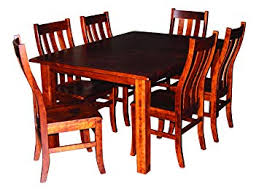 cherry wood dining room table 8 side chairs solid hardwood amish made heirloom diningroom furniture