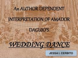 wedding dance by amador daguio (an author dependent interpretation) Wedding Dance Exposition an author dependent interpretation of amador daguio's wedding dance jessa i cerbito Clip Art Wedding Dance