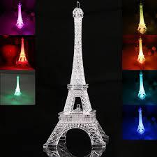 new romantic eiffel tower led night light desk wedding bedroom decorate child gift lights lamp fj88