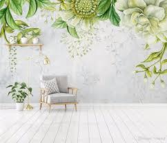Großhandel Bacaz Custom 3d Wandmalereien Tapete Grün Handgemalte