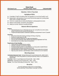 Line Cook Resume Examples Cook Resume New Resume Format And Cv