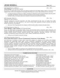 Construction Superintendent Resume Templates Construction Superintendent Resume Sample Foodcity Me
