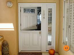 traditional 36 x80 plastpro drs60 fiberglass dutch door with shelf and single sidelight in