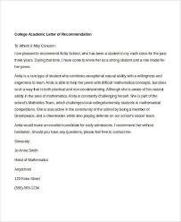 10 Academic Recommendation Letters Free Premium Templates