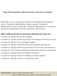 top 8 sharepoint administrator resume samples 1 638 jpg cb 1427856604