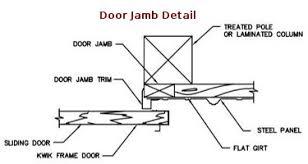 sliding door jamb plans