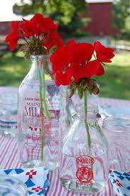 14 best memorial day wedding images on pinterest memorial day Ideas For July 4th Summer Wedding 4th of july red geraniums in vintage glass bottles as a simple floral centerpieces aniversary ideasjuly weddingsummer 4th of July Wedding Centerpieces