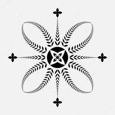 лавровый венок татуировки черный орнамент крест знак на белом фоне