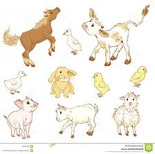 cute farm animals drawings. Unique Farm Baby Farm Animal Vector Stock Illustration Animals Set Hand Draw  Sketch Cute Throughout Drawings A