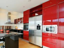 ... Large Size Of Kitchen: Red Kitchen Cabinet Red Black Kitchen Ideas  Solid Hardwood Flooring Wall ...