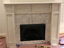 build fireplace mantel surround over brick making challenge