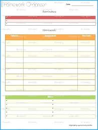 Homework Agenda Printable Student Planner Template Chanceinc Co