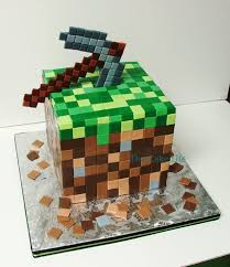 cake minecraft recipe. Pickaxe And Grass Block Cake - Minecraft Recipe