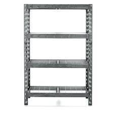 steel freestanding shelving unit by gladiator garage works in h x w d 4 edsal 72 24 i