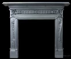 reclaimed victorian cast iron fireplace surround