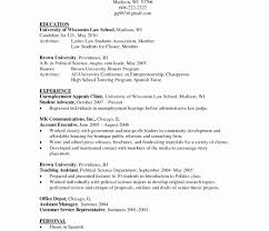 Resume Cover Letter Unemployed New Stanford Resume Template New Od