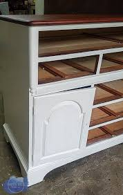 antique white hutch makeover roots