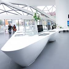 pure white acrylic solid surface countertops for public area