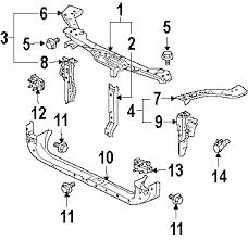 parts com® mitsubishi endeavor grille components oem parts 2006 mitsubishi endeavor ls v6 3 8 liter gas grille components