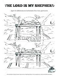 The Lord Is My Shepherd Coloring Page As Well As Psalm Coloring Page