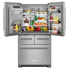 KitchenAid 36 Inch Stainless Steel 26 cu. ft. Multi-Door Refrigerator | RC  Willey Furniture Store