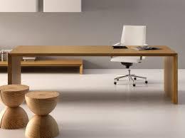 long and sleek wooden desk