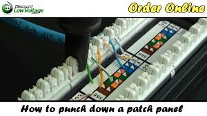how to punch down a network ethernet patch panel howto patchpanel cat5e