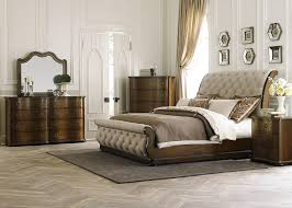 Sleigh Bed Bedroom Furniture Carrington Transitional Upholstered King Sleigh Bed Rotmans