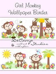 girl jungle nursery ideas girl monkey wallpaper border wall decals for baby girl jungle nursery room