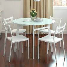 small glass kitchen table small kitchen table and chairs for four backrest combined metal chrome table small glass kitchen table