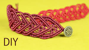 Macrame Bracelet Patterns Delectable Amazing Macramé Heart Bracelet Tutorial YouTube