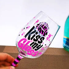 china hand painted birthday wine glasses manufacturers