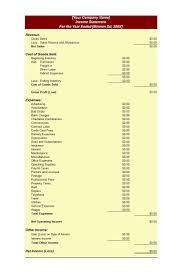 Partial Income Statement Templatelab Com Free Templates