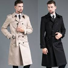 New Personality Slim Double Breasted <b>Men's</b> Trench Coat <b>Business</b> ...