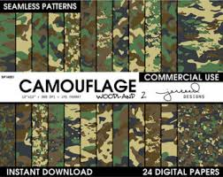 Military Camo Patterns Inspiration Camouflage Paper Etsy