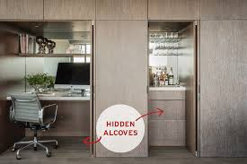 traditional hidden home office. 8 Interior Designers Create Smart Storage Spaces In The Home | Household, Mid Century And Traditional Hidden Office