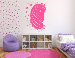 pretty funny horse wall printing teenage girl bedroom decorating white single bed circle fur rug for girls room paint ideas minimalist bookshelf and purple amusing white bedroom design fur rug