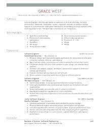 Resume Format For Experienced Software Developer Software Developer