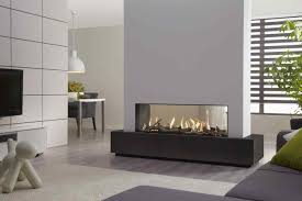sided ventless gas fireplace white wall built in double sided fireplace insert with room divider dru