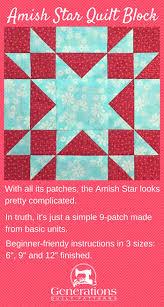 Amish Star Quilt Block: 6