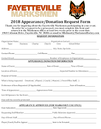 Donation Request Form – Fayetteville Marksmen