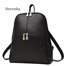 women casual leather backpacks