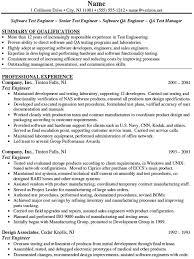 Emc Test Engineer Sample Resume Mesmerizing Senior Test Engineer Sample Resume Qa Engineer Resume Senior