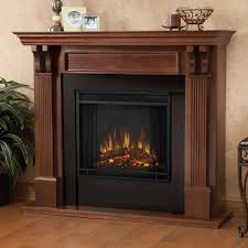 real flame ashley 48 in electric fireplace in blackwash 7100e bw the home depot