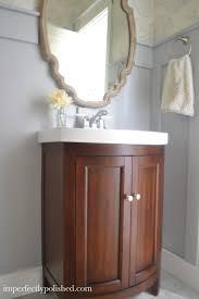 behr bathroom paintWallpapering our Half Bathroom
