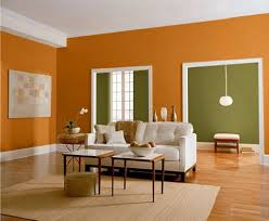 Orange Living Room Decor Living Room Orange And Green Wall Color For Contemporary Living