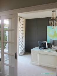 office sliding door. classy white office idea of home sliding door with clear glass and sturdy table