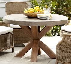 beautiful round patio dining table abbott round dining table pottery barn