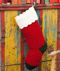 Crochet Stocking Pattern Gorgeous Crochet Christmas Stocking Pattern Red Heart