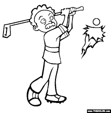 Small Picture Golf Coloring Page Free Golf Online Coloring
